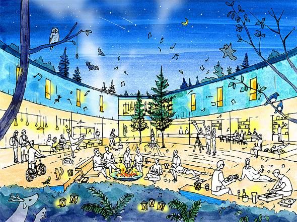 星野リゾートが2019年2月に開業する「星野リゾート BEB 軽井沢」。メインターゲットは20代の若者だ