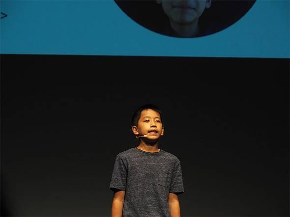 ゲーム「Point vs. Line」を開発した羽柴陽飛さん(12歳、小6)