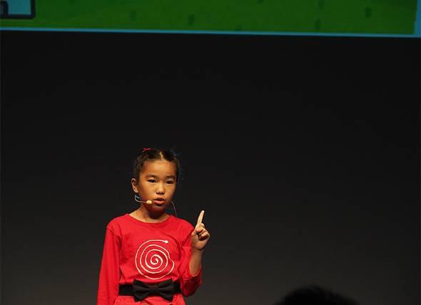 位置情報とタスク管理を組み合わせたアプリ「RemindMe」を開発した岡村有紗さん(11歳、小6)