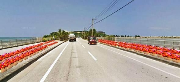 豊見城市の瀬長島につながる市道を花で彩る「ブルーミングプロジェクト」のイメージ図(同学科ゼミ提供)