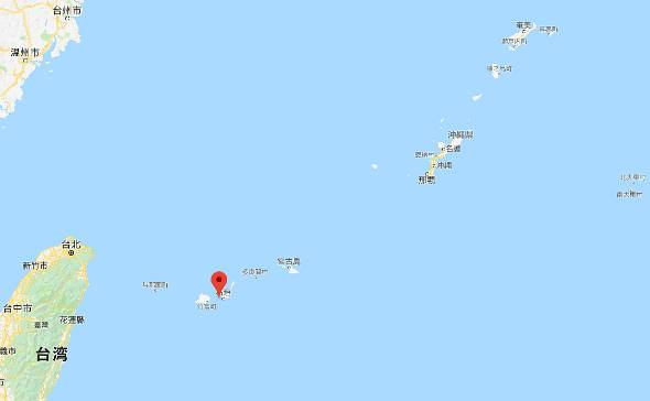 竹富島の位置。沖縄本島よりも台湾が近い
