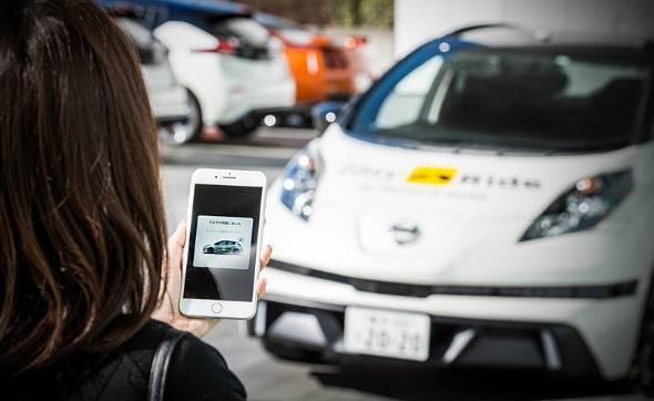 日産自動車は早くから自動運転や電動化に取り組んできた。写真は無人タクシーの実証実験
