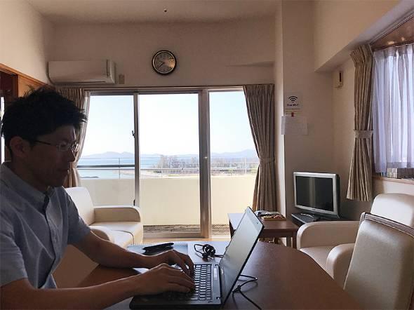 沖縄県名護市で約2週間、ワーケーションを実践したシュナイダーエレクトリックの平川輝さん