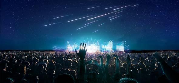 人工流れ星によるイベント