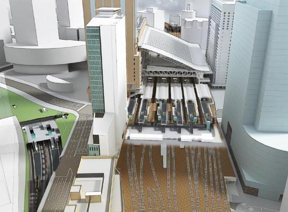 大阪駅西側に超高層ビル 新改札口と駅ビルも新設、回遊性向上へ:2024 ...