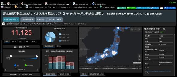 感染者マップ コロナ
