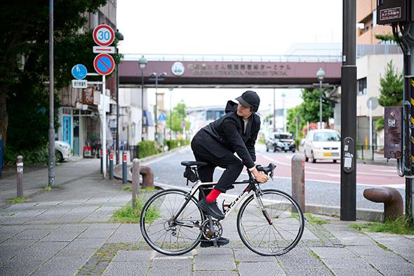 自転車着用イメージ