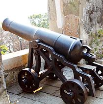 モンテの砦にある中央大炮台