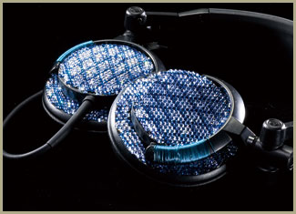DJ HEADPHONE BLUE CHECK