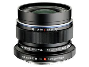 「M.ZUIKO DIGITAL ED 12mm F2.0」に台数限定ブラックキット