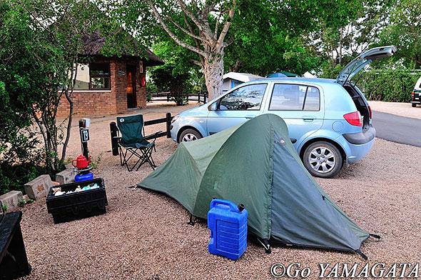 南部アフリカでのキャンプの様子