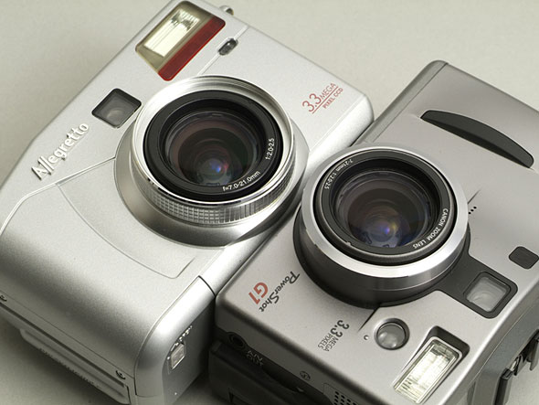 Allegretto M70とPowerShot G1