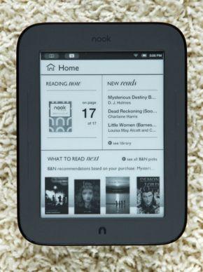 NOOK 2のナビゲーションの基本となる「Home」画面