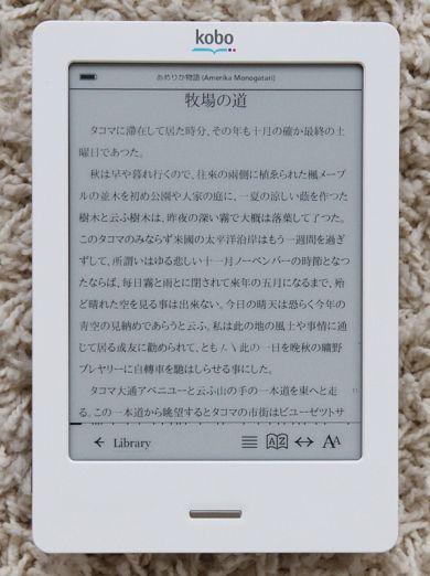日本語EPUBを表示した