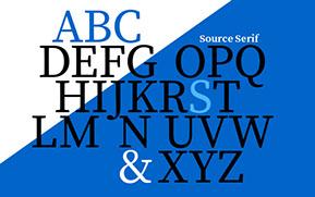 �A�h�r�̐V���́uSource Serif�v