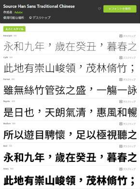 中国語繁体字