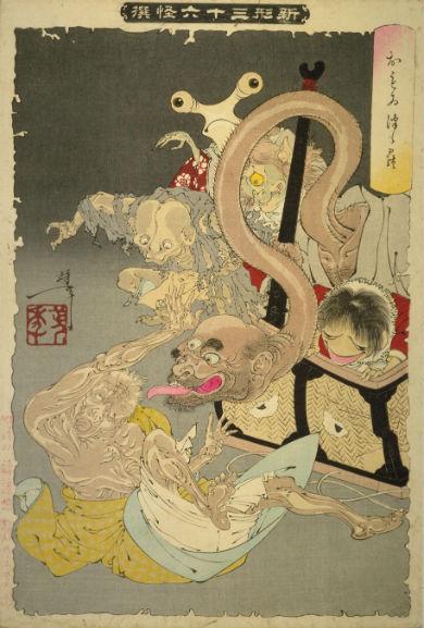 三井寺頼豪阿闍梨悪念鼠と変ずる図