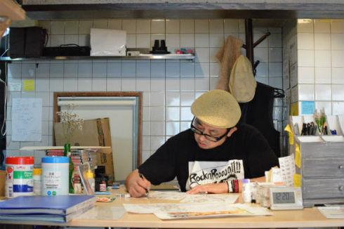 電子書籍化するという『ざん斬り〜土方歳三伝〜』のカバーイラストを描いていただいた