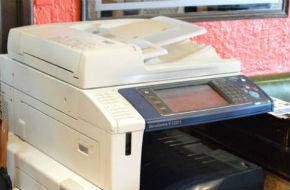 大型のコピー機も設置