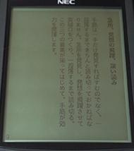 日本語コンテンツを表示したところ