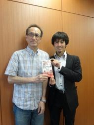 『ゆるパイ図鑑』著者の藤井青銅さんとオトバンク社長・久保田裕也