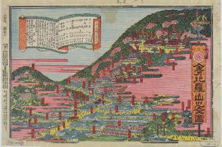 『金刀比羅山之全図』(出典:香川県立図書館デジタルライブラリー)