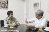 本書に収録されている吉本興業・大崎社長との対談の風景