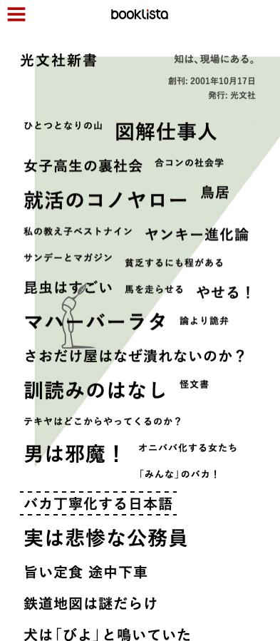 「光文社新書」ページのイメージ