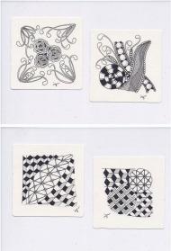 簡単なパターンを繰り返し描くだけで、緻密なアート作品が完成