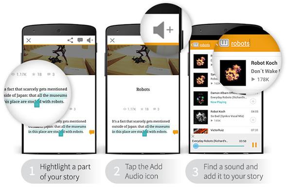 Androidアプリでの利用イメージ(Wattpadの公式ブログより)