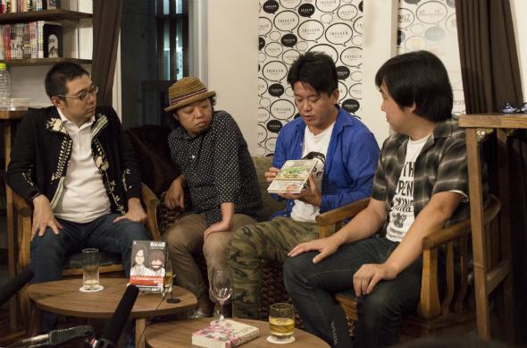 左から佐渡島氏、小沢氏、堀江氏、角野氏