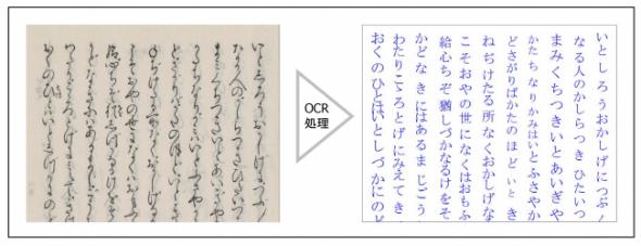 『源氏物語』のOCR処理によるテキストデータ化