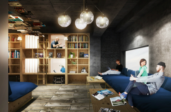 BOOK AND BED TOKYO イメージ ©SUPPOSE DESIGN OFFICE