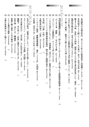 『Amazon創業20周年記念 週刊文春オリジナルコレクション』目次