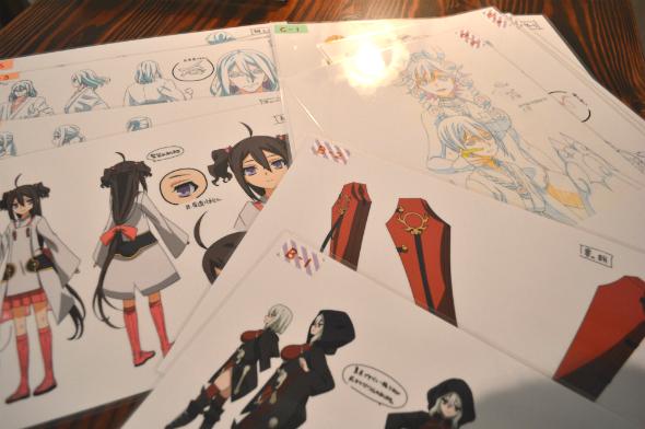 貴重なアニメの制作資料の数々