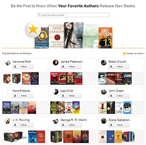 作家のフォローボタンが用意されたAmazon.comサイト