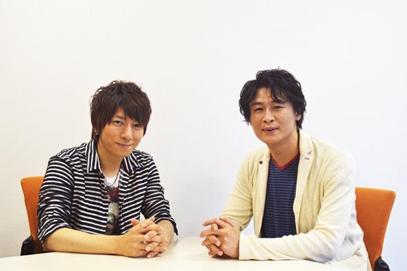 羽多野渉さん(左)と冲方丁さん(右)