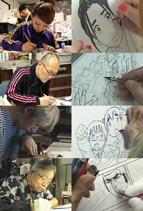 上から東村アキコさん、藤田和日郎さん、浅野いにおさん、さいとう・たかをさん