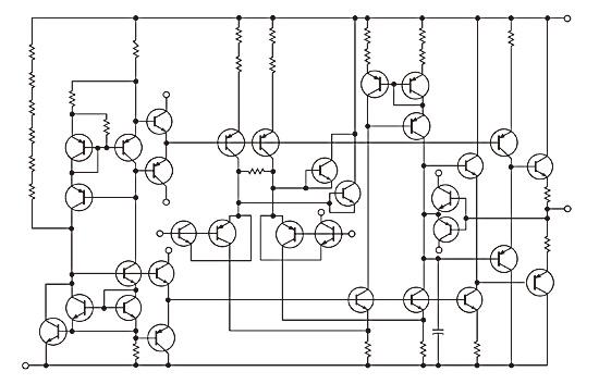図1「EL5157」は電圧フィードバックアンプ回路構成の例である。