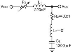 図1 スイッチングレギュレータのステップ応答(低周波領域)