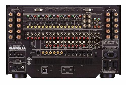 図1 AVR-5805の背面パネル