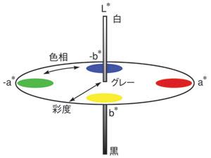 図A CIEL<sup>*</sup>a<sup>*</sup>b<sup>*</sup>の概念図