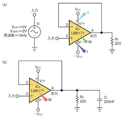 図5 SPICEシミュレーション用の回路図