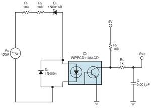 図1 AC入力電圧のモニター回路