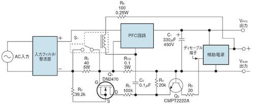 図1 突入電流を検出して制限をかける回路