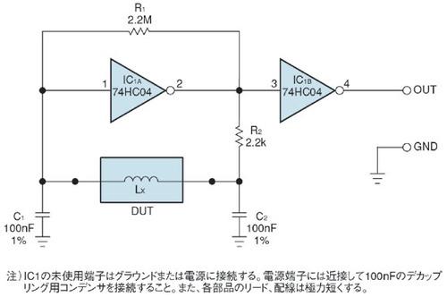 図1 インダクタンス用の簡易テスター