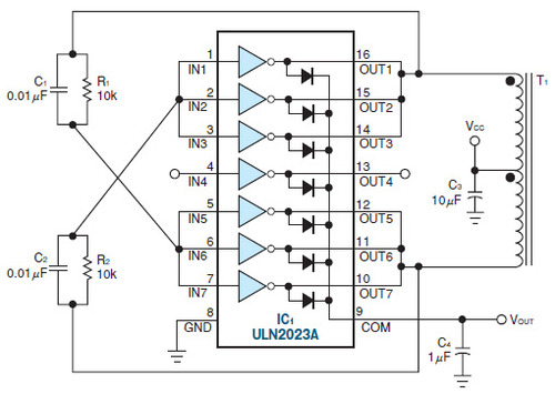 図3 ドライバアレイで構成した倍電圧電源