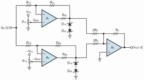 図1 3位置制御を実現する2重ヒステリシス回路