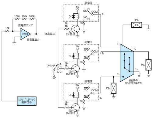 図1 高電圧誘導ノイズに対処するための回路