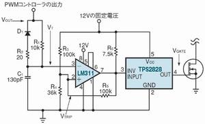 図1 デューティサイクルのクランプ回路